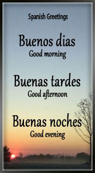 Spanish Greetings & Goodbye in Spanish - Espaol To English